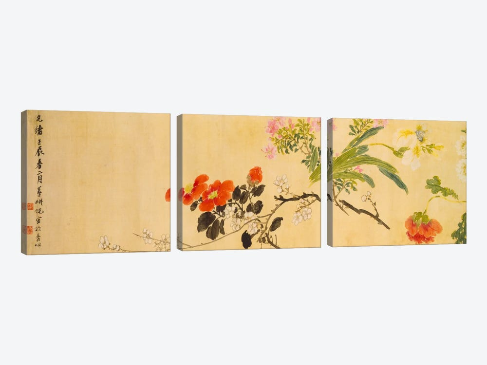 Flowers, 1892 by Ni Tian 3-piece Canvas Art Print