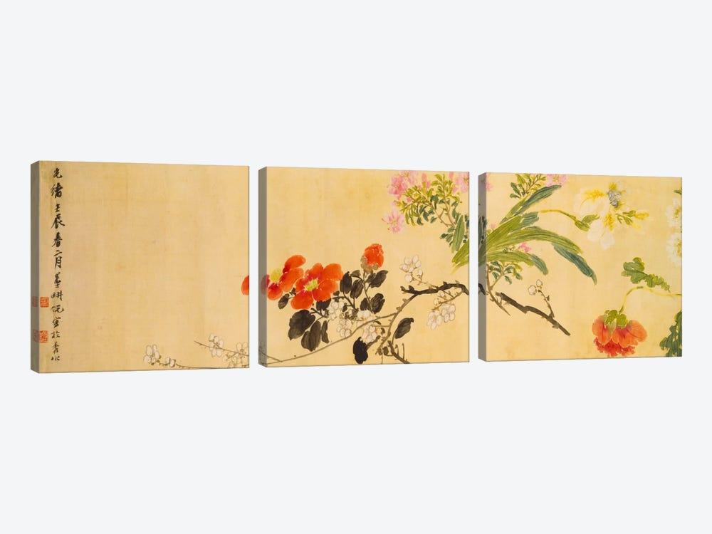 Flowers, 1892  by Ni Tian 3-piece Canvas Art Print