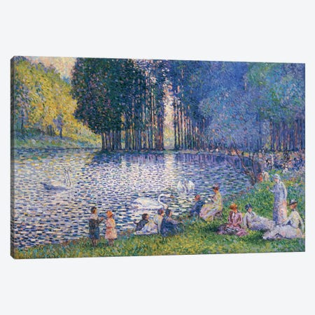 The Lake in the Bois de Boulogne, c.1899  Canvas Print #BMN5534} by Henri-Edmond Cross Canvas Artwork
