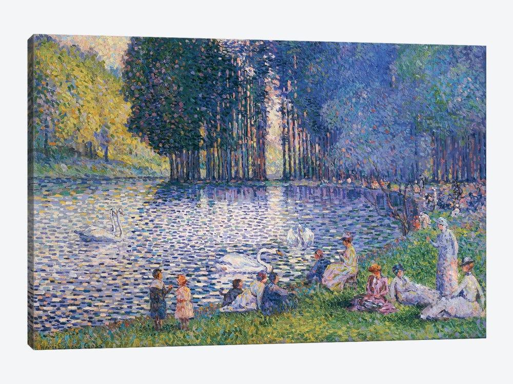 The Lake in the Bois de Boulogne, c.1899  by Henri-Edmond Cross 1-piece Canvas Artwork