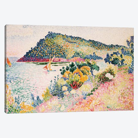 The Black Cape, Pramousquier Bay, 1906  Canvas Print #BMN5535} by Henri-Edmond Cross Canvas Wall Art