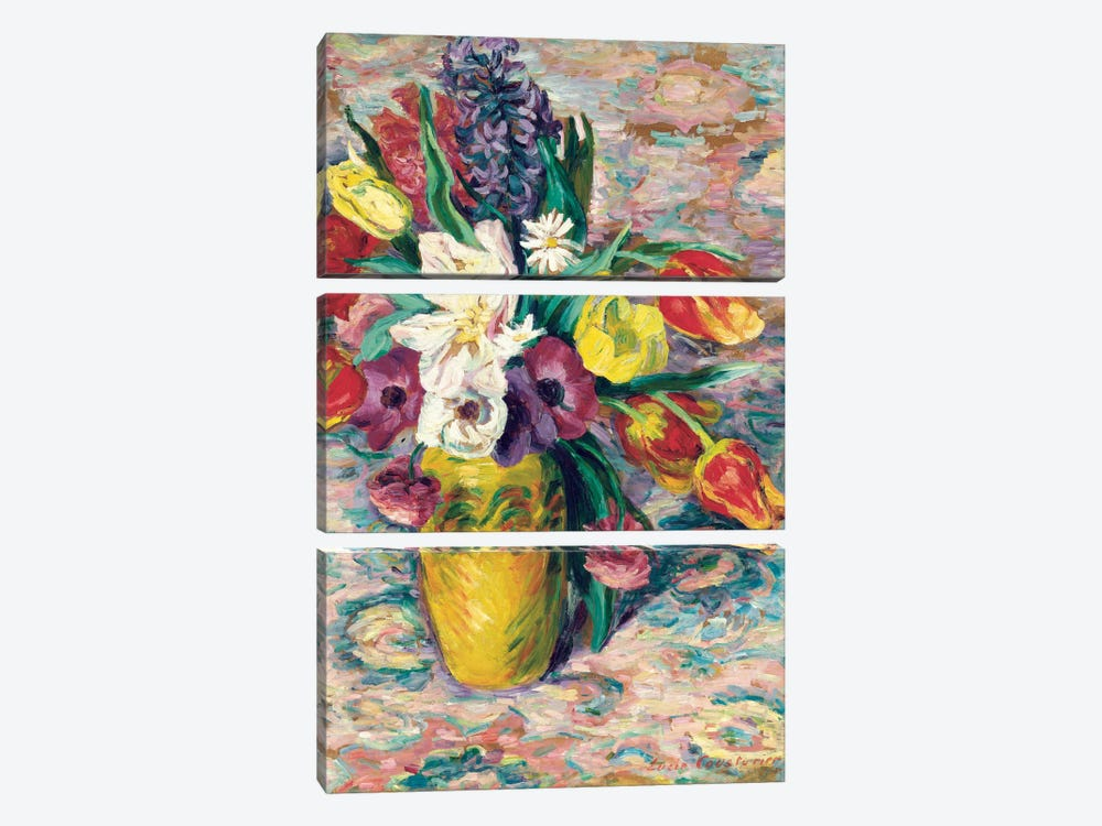 Still Life  by Lucie Cousturier 3-piece Canvas Wall Art