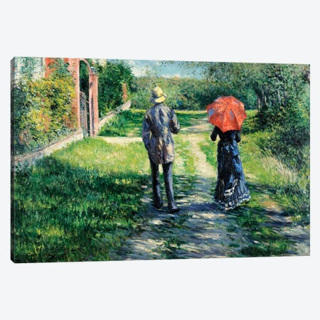 The Path Uphill, 1881  Canvas Print #BMN5538} by Gustave Caillebotte Art Print