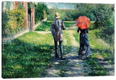 The Path Uphill, 1881  Canvas Art Print