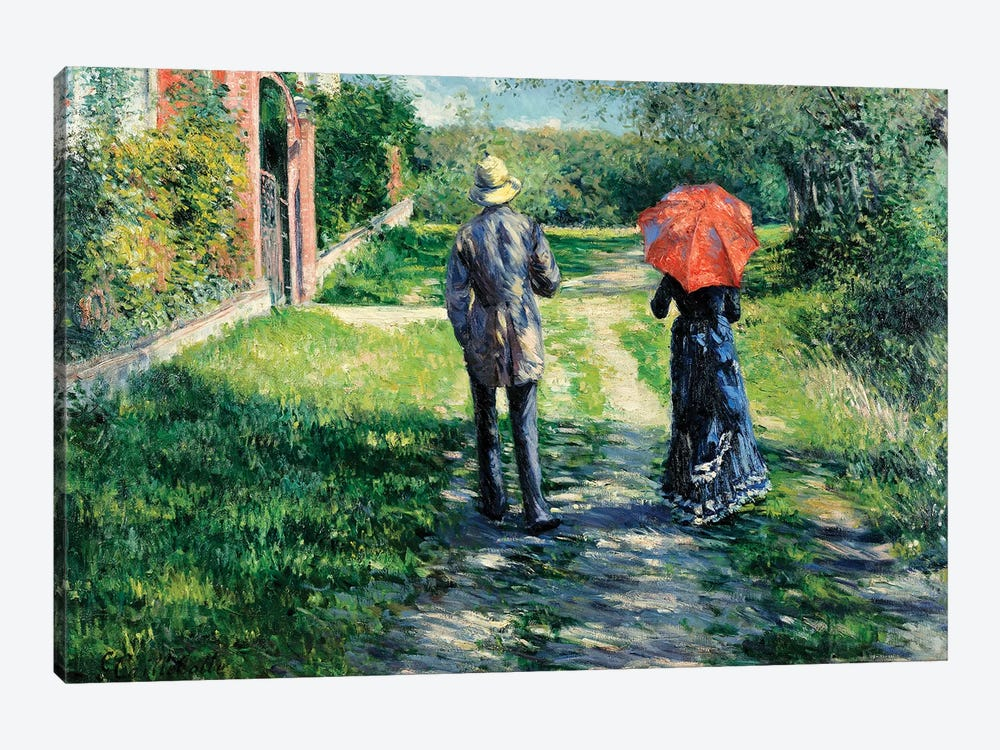 The Path Uphill, 1881  by Gustave Caillebotte 1-piece Canvas Wall Art