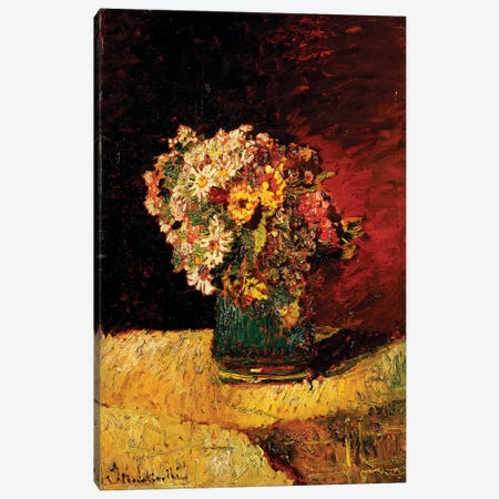 A Vase of Flowers  Canvas Print #BMN5539} by Adolphe Joseph Thomas Monticelli Canvas Print