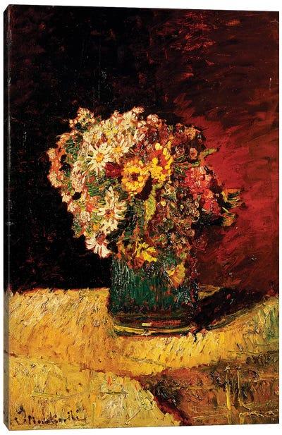 A Vase of Flowers  Canvas Art Print