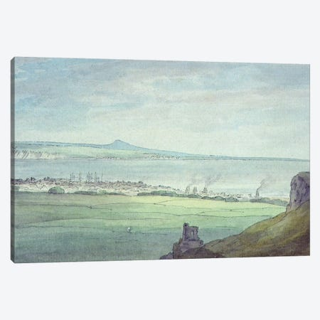 Leith, with Kirkaldy on the coast of Fifeshire  Canvas Print #BMN553} by John White Abbott Canvas Wall Art