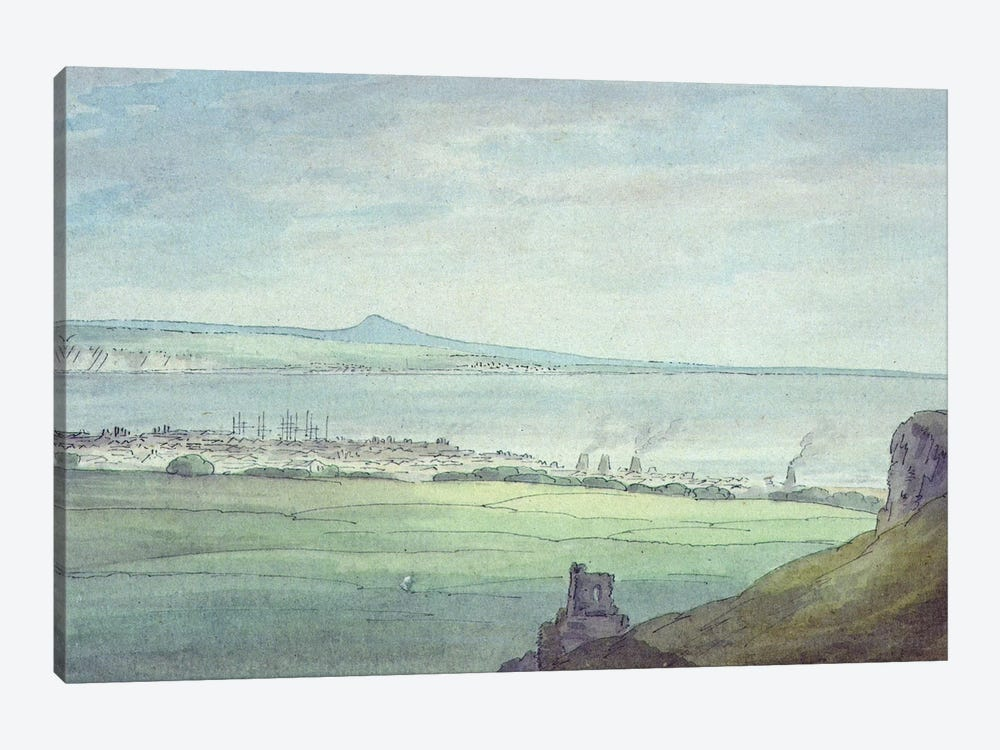 Leith, with Kirkaldy on the coast of Fifeshire  by John White Abbott 1-piece Canvas Print