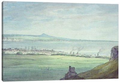 Leith, with Kirkaldy on the coast of Fifeshire  Canvas Art Print