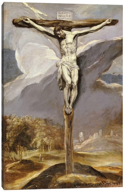 Christ On The Cross Canvas Art Print