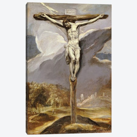 Christ On The Cross Canvas Print #BMN5540} by El Greco Canvas Artwork