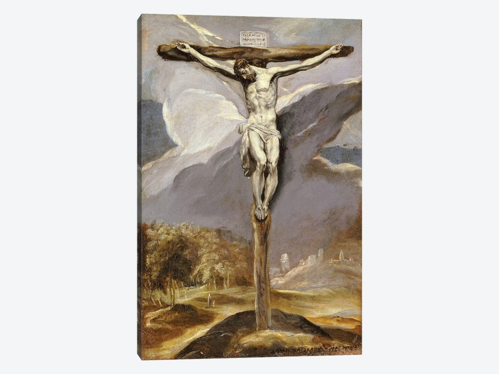 Christ On The Cross by El Greco 1-piece Canvas Print