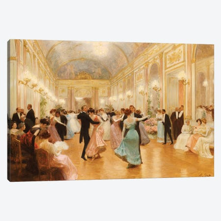 The Ball  Canvas Print #BMN5541} by Victor Gabriel Gilbert Canvas Art