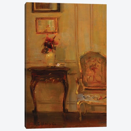 A Drawing Room Interior  Canvas Print #BMN5545} by Carl Holsoe Art Print