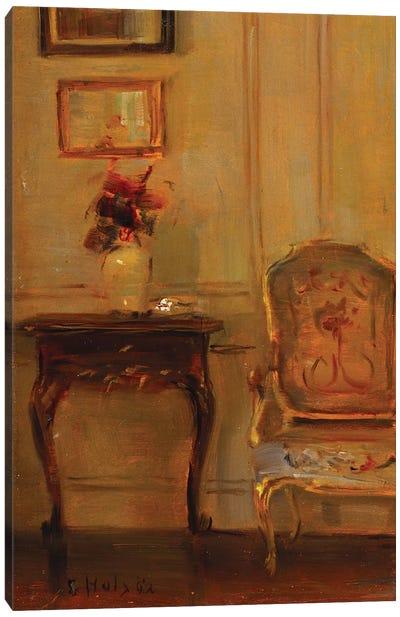 A Drawing Room Interior  Canvas Art Print