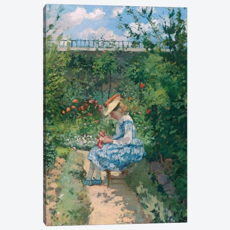Jeanne in the Garden, Pontoise, c.1872  Canvas Print #BMN5548} by Camille Pissarro Canvas Wall Art