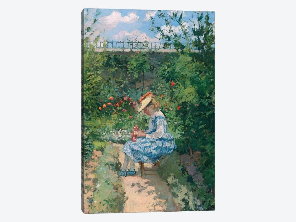 Jeanne in the Garden, Pontoise, c.1872  by Camille Pissarro 1-piece Canvas Print