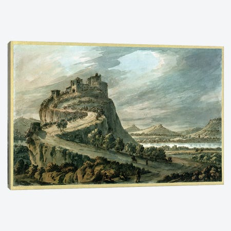 Rocky landscape with castle Canvas Print #BMN554} by Robert Adam Canvas Art Print