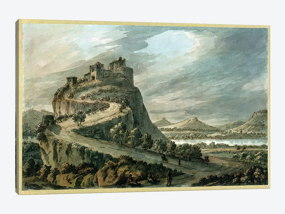 Rocky landscape with castle by Robert Adam 1-piece Canvas Art