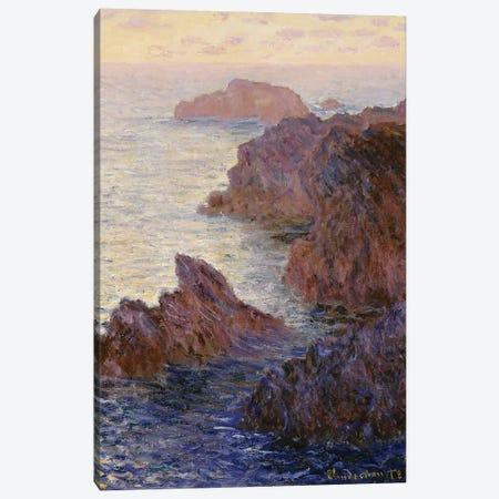 Point de Rochers, Port-Goulphar  Canvas Print #BMN5553} by Claude Monet Art Print