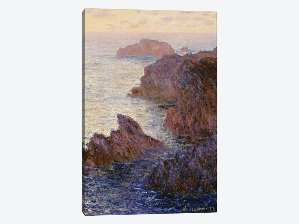 Point de Rochers, Port-Goulphar  by Claude Monet 1-piece Canvas Print