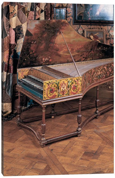 Double manual harpsichord  Canvas Art Print