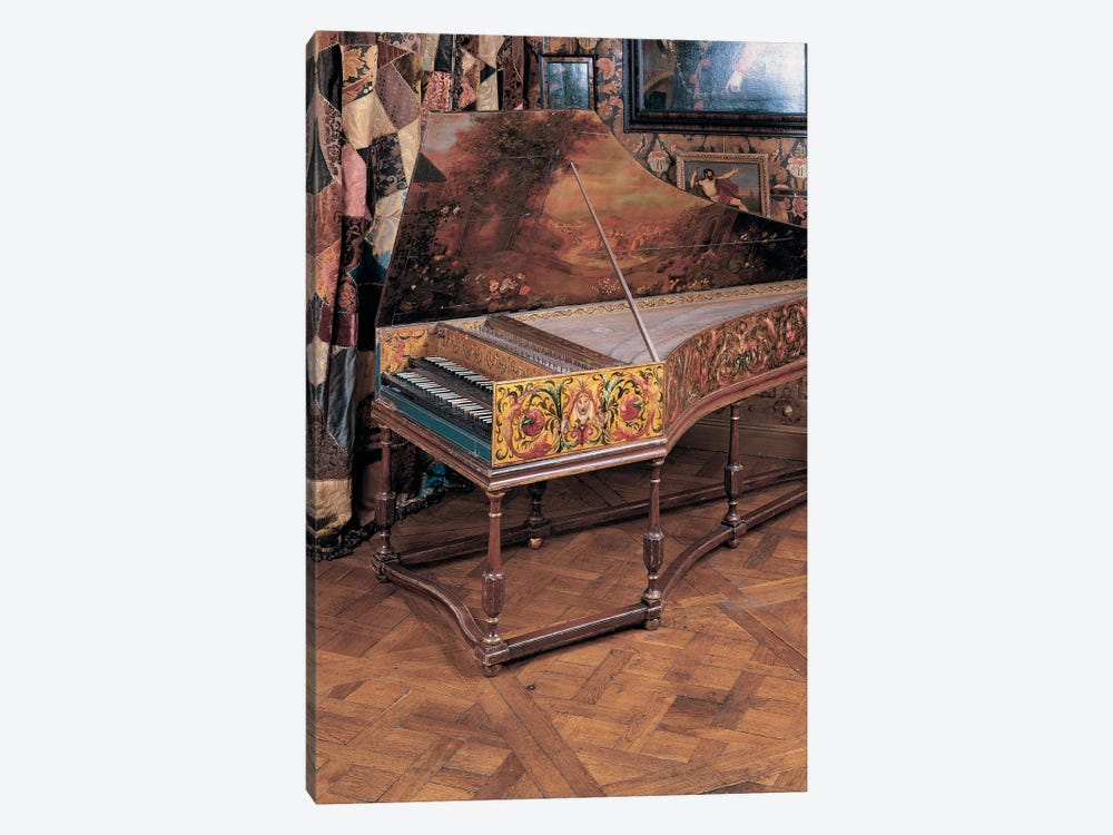 Double manual harpsichord  by Joannes Ruckers 1-piece Canvas Art