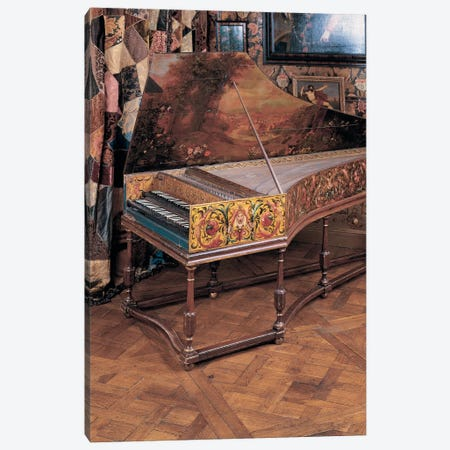 Double manual harpsichord  Canvas Print #BMN5554} by Joannes Ruckers Canvas Wall Art