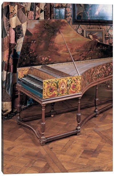 Double manual harpsichord  Canvas Art Print