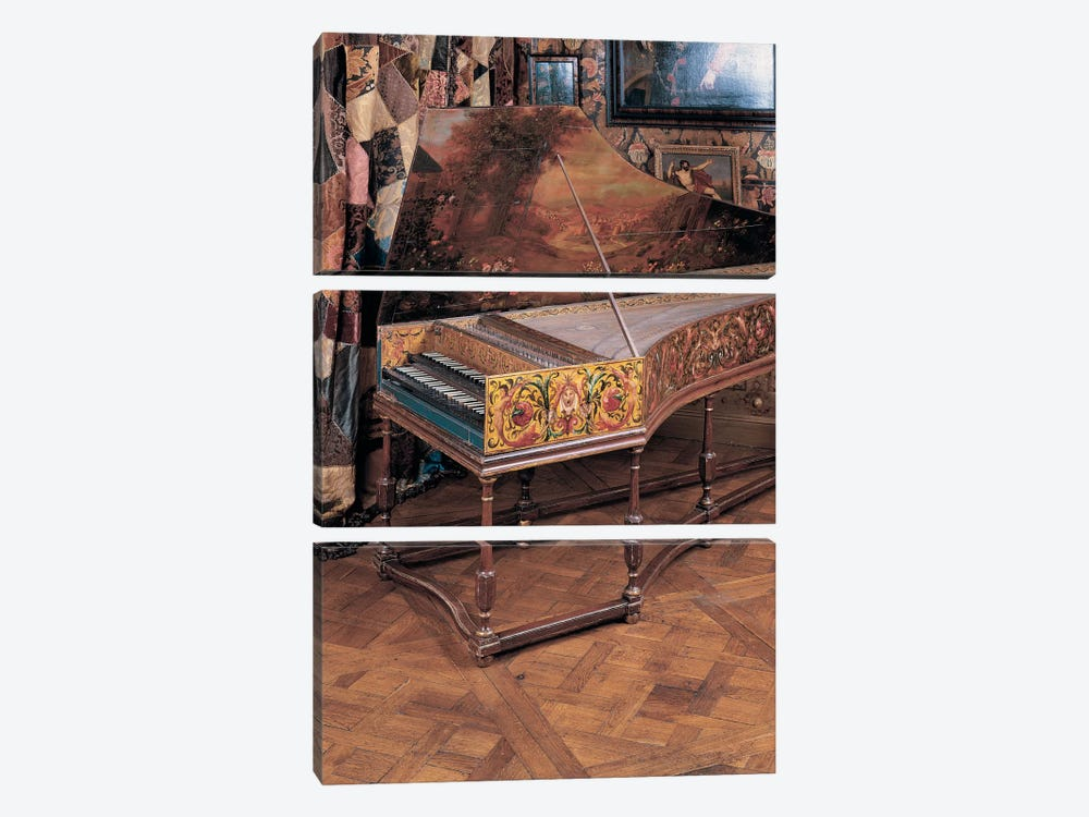 Double manual harpsichord  by Joannes Ruckers 3-piece Canvas Art