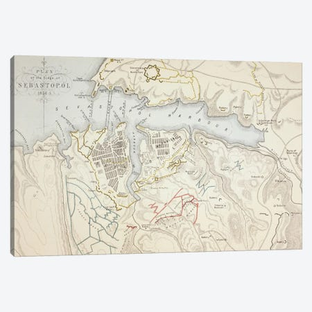 Plan of the Siege of Sebastopol, 1883  Canvas Print #BMN5556} by English School Canvas Art