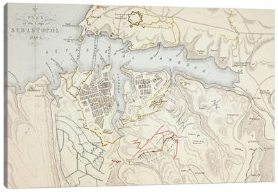 Plan of the Siege of Sebastopol, 1883  Canvas Art Print