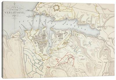 Plan of the Siege of Sebastopol, 1883  Canvas Art Print