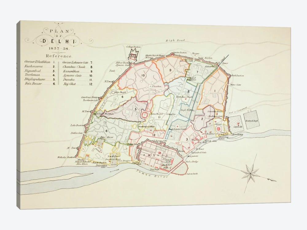 Plan of Delhi, 1883  by English School 1-piece Art Print