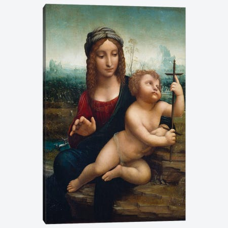 The Madonna of the Yarnwinder  Canvas Print #BMN5559} by Leonardo da Vinci Canvas Print