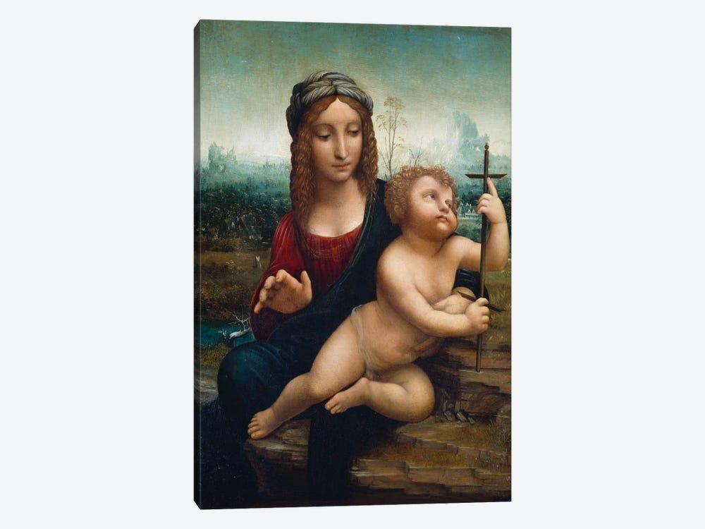 The Madonna of the Yarnwinder  by Leonardo da Vinci 1-piece Canvas Art Print