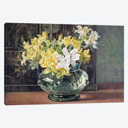 Azaleas 3-Piece Canvas #BMN555} by Helen Cordelia Coleman Angell Canvas Art Print