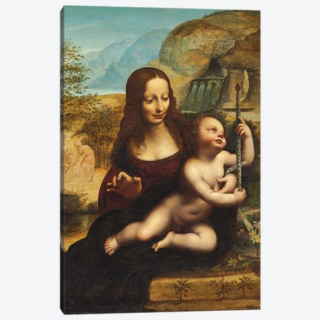 The Madonna of the Yarnwinder  Canvas Print #BMN5560} by Leonardo da Vinci Canvas Art