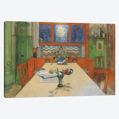 Day is Done, Good Night! 1908  Canvas Print #BMN5565} by Carl Larsson Canvas Print