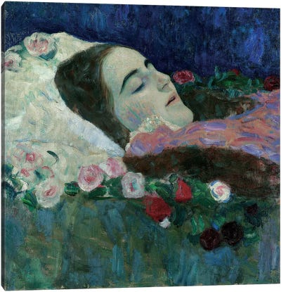 Ria Munk on her Deathbed, c.1910  Canvas Print #BMN5571