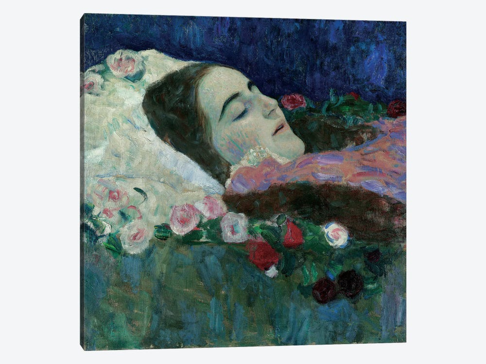 Ria Munk on her Deathbed, c.1910  by Gustav Klimt 1-piece Canvas Art Print