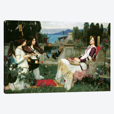 St. Cecilia Canvas Print #BMN5572} by John William Waterhouse Art Print