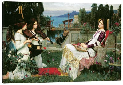 St. Cecilia by John William Waterhouse Art Print