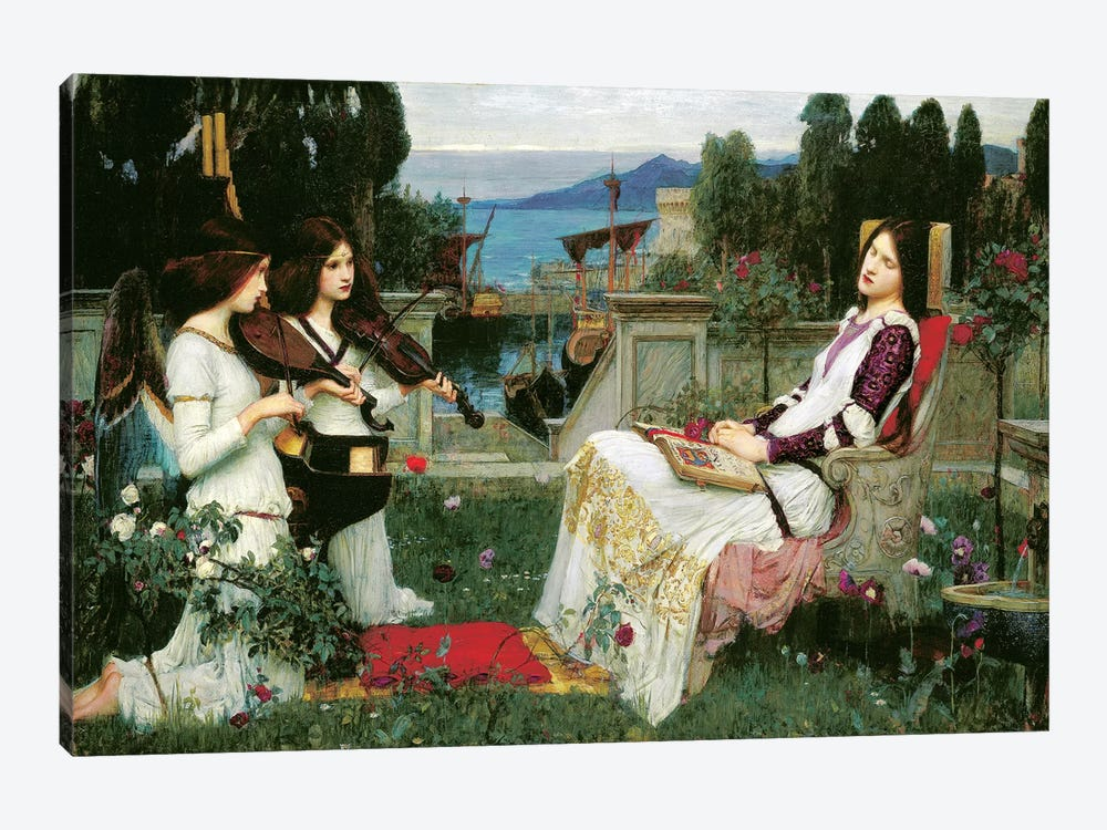 St. Cecilia by John William Waterhouse 1-piece Canvas Artwork