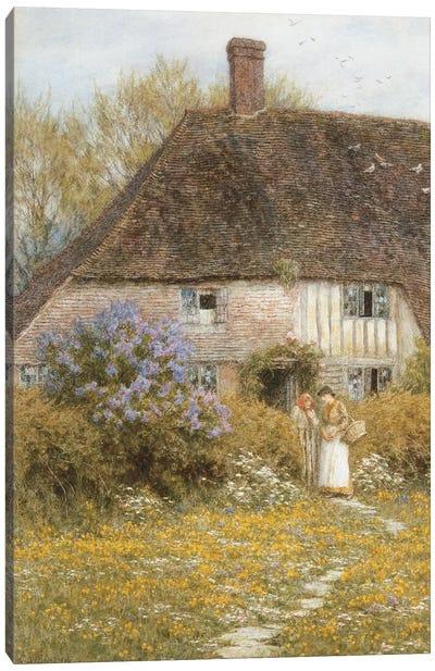 A Kentish Cottage  Canvas Art Print