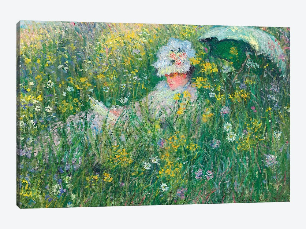In the Meadow, 1876  by Claude Monet 1-piece Canvas Print