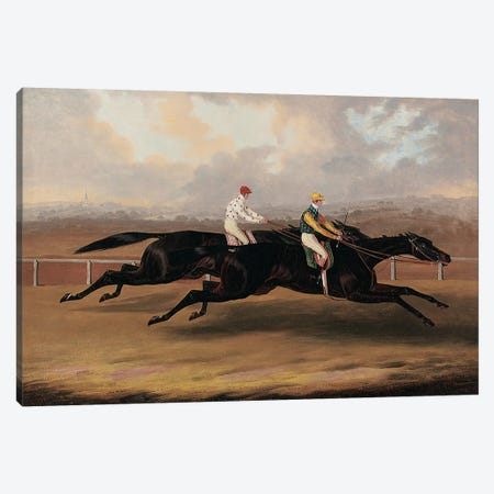 The Flying Dutchman and Voltigeur Running the Great Match Race  Canvas Print #BMN5577} by Samuel Spode Canvas Art