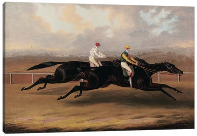 The Flying Dutchman and Voltigeur Running the Great Match Race Canvas Art Print