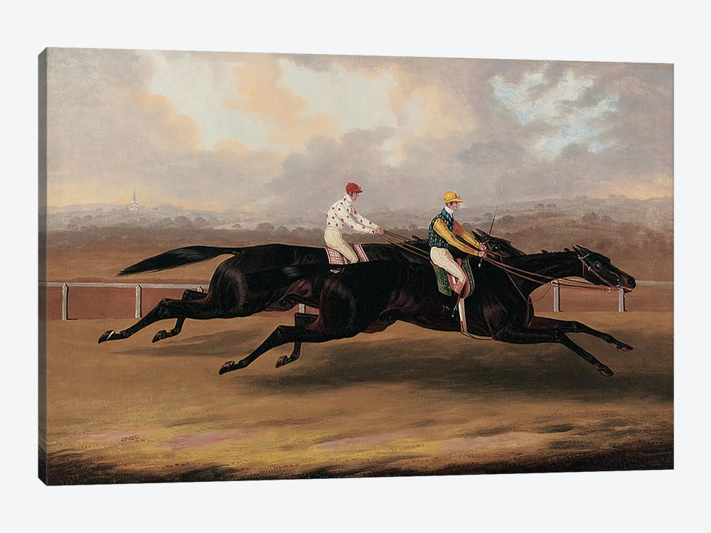 The Flying Dutchman and Voltigeur Running the Great Match Race  by Samuel Spode 1-piece Canvas Art Print